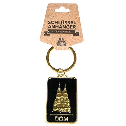 I LOVE KÖLN Schlüsselanhänger Köln, schöner Anhänger mit Kölner Dom in Schwarz mit Gold