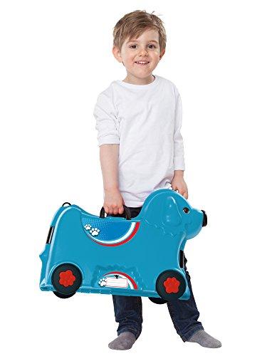 BIG 800055352 – Bobby-Trolley, Kinderkoffer, Kindergepäck, blau - 8