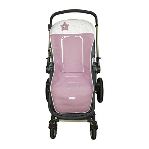 Colchoneta o funda de Paseo para silla Universal Rosy Fuentes SI en color rosa empolvado