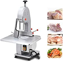 Meat Bone Sawing Machine, 1500W 110V Commercial Electric Frozen Meat Fish Steak Cutting Machine with Waterproof Safety Device