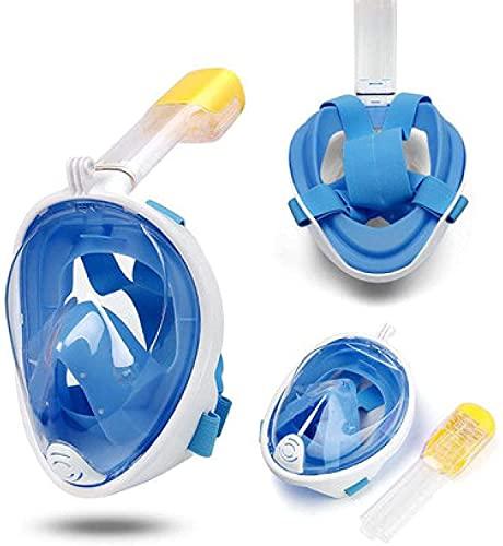 RRUUGK Equipo De Buceo Deportivo De Niños De Secado Completo Máscara De Natación De Snorkel (Color : Azul, Size : S)