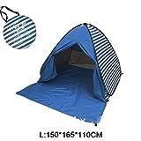 Tienda De Playa Tienda De Apertura AutomáTica Emergente Tienda Plegable Familiar Ultraligera Campamento TuríStico para Peces ProteccióN UV Y Parasol Completo 2-5 Personas