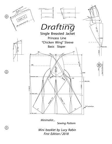 Drafting Single- Breasted Jacket Kimono Sleeve with Princess Line Basic Sloper: Minimalist... Smart Sewing Pattern (English Edition)