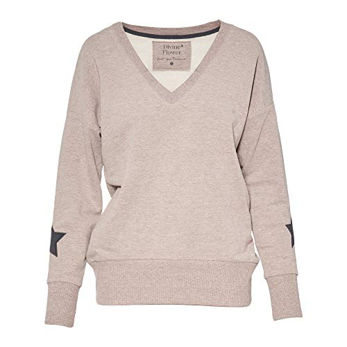 Divine Flower by Ursula Karven Sweatshirt Damen aus Bio Baumwolle - Ethisch & fair gefertigt - Sweater Damen Made in EU (XS), Soft Hazel