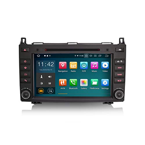 ERISIN 8 Zoll Android 10.0 Autoradio für Mercedes A/B Klasse W169 Sprinter Viano Vito Crafter mit GPS-Navi Unterstützt Carplay Android Auto Bluetooth Wifi 4G DAB+ RDS Mirror-Link TPMS 2GB RAM+16GB ROM