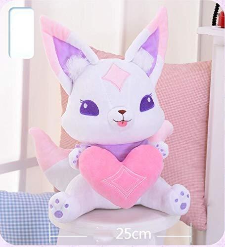 Ruiodr 33 cm Anime Star Guardian Ahri Fuchs Plüschtiere Nette Kiko Maskottchen Fuchs Gefüllte Plüsch Cartoon Puppe Spielzeug Für Kinder Sammlung Geschenk