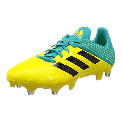 adidas Malice (SG), Zapatillas de Rugby Hombre, Amarillo (Amasho/Negbás/Agalre 000), 46 EU