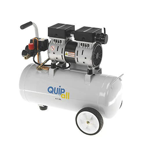 Quipall 6-1-SIL 1 HP 6.3 Gallon Oil-Free Wheelbarrow Air Compressor