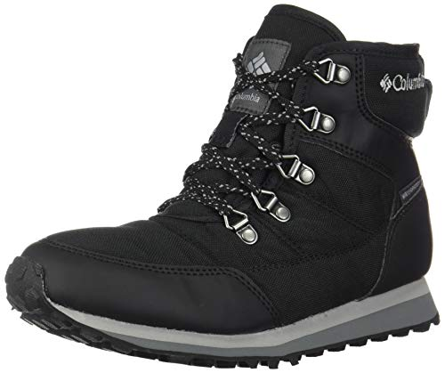 Columbia Women's WHEATLEIGH Shorty Snow Boot, Black, Grey, 9 Regular US