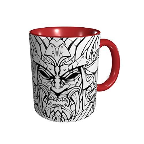 Malvorlagen für Erwachsene Unheimliche Samurai-Maske N Keramik-Kaffeetasse 11 Gu Division