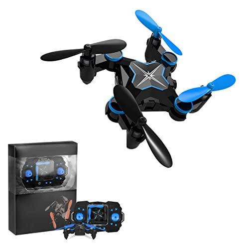 KUOPE Mini Dron Plegable con Retención De Altitud Y Modo Sin Cabeza para Adultos Sin Cámara, Cuadricóptero RC con Inicio De Una Tecla, Ajuste De Velocidad Y Giro 3D para Niños Principiantes