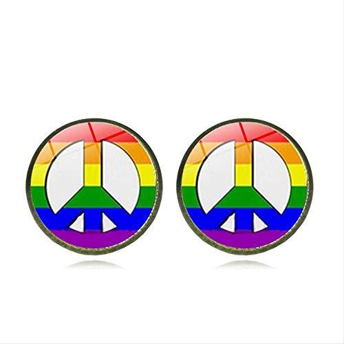 CHIY-GBC Punk Arco Iris LGBT Pendiente del Orgullo Gay Hombre Pendientes Amante Mujeres Pendiente Fiesta del Orgullo Gay Regalos Hombres Joyería 1,4 Cm