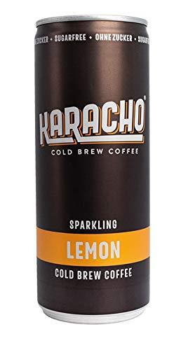 1 Dose | Karacho Cold Brew Coffee - Sparkling Lemon | Kaffee | kalt gebrüht | natürliches Koffein | kohlensäurehaltig | Zuckerfrei