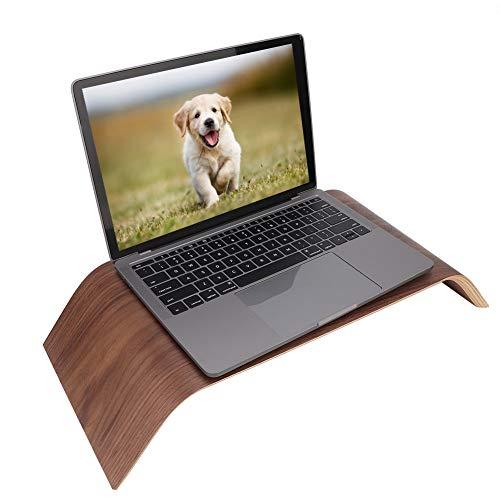 SCHUHREGALE For Samdi Universal Wooden Computer Monitor Stand Bracket For IMac PC Notebook Black Walnut