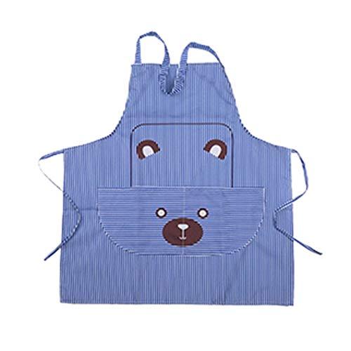 fgyujygf veelkleurige beer schort koken ambachten keuken chefs werkkleding heldere streep creatief