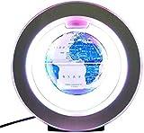 Explore el mundo Globo flotante con luces LED de colores Levitación magnética antigravedad Mapa del mundo giratorio para niños Regalo Decoración de escritorio de oficina en casa, Modelo R4 Porcelana a