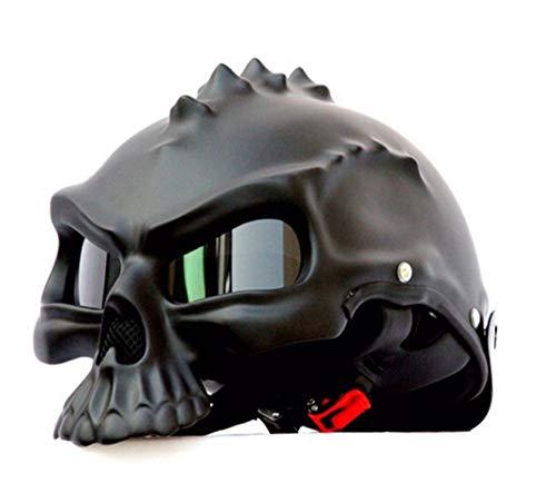 OLEEKA 15 Color 498 Dual Use Skull Motorcycle Helmet Retro Casque Moto Half Face Helmet Envío Gratis