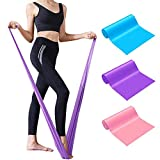 Vonloge Exercise Bands Set, Professional Latex Resistance Bands, Stretch Bands for Physical Therapy, Yoga, Pilates, Rehab, at-Home or The Gym Workouts, Strength Training