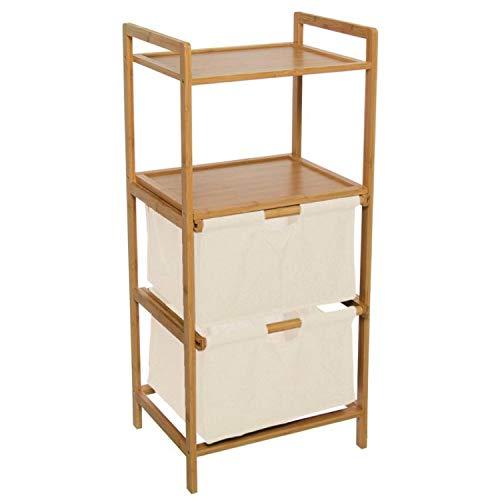 Vidal Regalos Meuble 2 tiroirs avec étagère en bois et polyester 96 cm