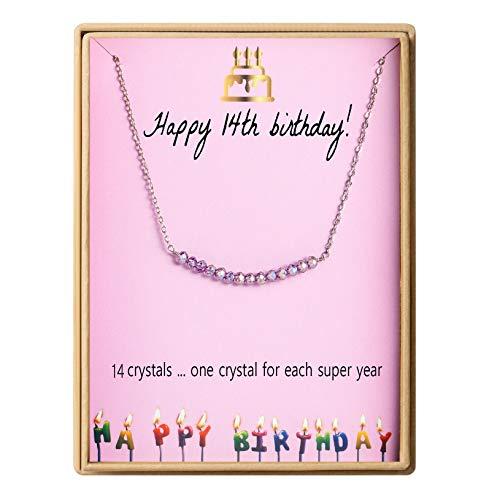 14th Birthday Necklace for Girls