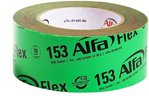Flexibles Hochleistungsklebeband 1 Stück 50 mm x 25 m (25 Meter) für Dampfbremsen, Dampfsperren und Dachfolien, geschmeidiges Folienklebeband für das dauerhaft luftdichte Verkleben