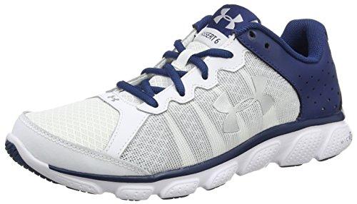 Under Armour UA Micro G Assert 6, Chaussures de Running Compétition Homme, Blanc (Blanc 101), 40.5 EU