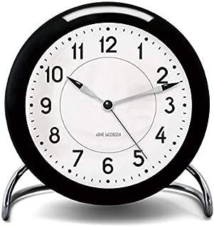 [アルネ・ヤコブセン] Clock 43672(Station) ブラック×ホワイト FREE
