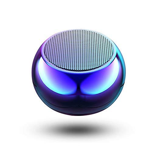DIDIOI Mini-Metall-Bluetooth-Lautsprecher, drahtlose Bluetooth-Lautsprecher bewegliche im Freien Subwoofer-Lautsprechern, Geeignet für Heimkino-und Außen