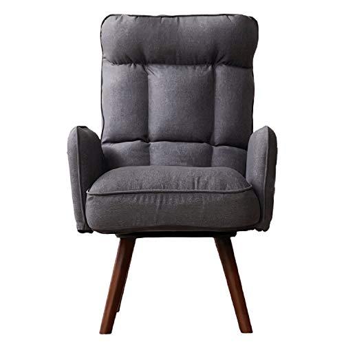 QINGMM Sofá cómodo Perezoso, Silla reclinable giratoria de 360 Grados, Ajustable en 5 Posiciones, sofá Chaise Lounge para Interior con Bolsillo Lateral, para Sala de Estar, Oficina en casa