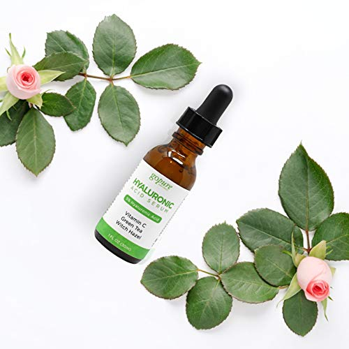 415yA356r3L - goPure Hyaluronic Acid Serum for Face - Anti Aging Serum with Vitamin C & E, Green Tea - Anti Wrinkle Hydrating Serum - Facial Moisturizer Collagen Serum - Helps Hydrate and Plump the Skin