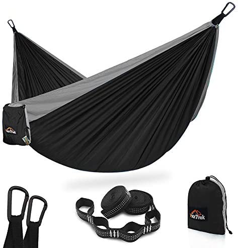 AnorTrek Camping Hammock Super Lightweight Portable Parachute Hammock with Two Tree Straps Each product image