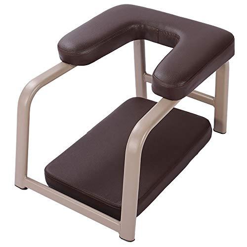 Novia Yoga Inverted Hocker-PU-Matte Stahl Yoga Stuhl for Familie und Fitnessraum, Sportübung Fitness Bank, Entlasten Müdigkeit und Build Up Körper (Color : Brown)