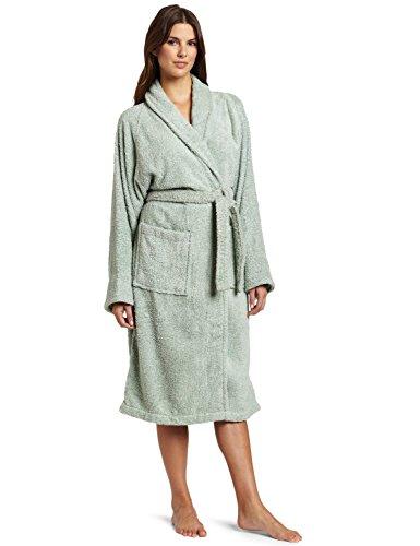 Superior Long-Staple Cotton Unisex Terry Bath Robe, Small, Sage