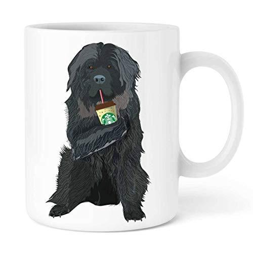 Personalisierte Tasse, Starbucks Mug Neufundländer, Tier-Tasse, Teetasse, 325 ml