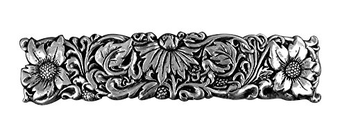 Wildflower Hair Clip, Hand Crafted Metal Barrette Made in the USA with a medium 70mm Clip by Oberon Design