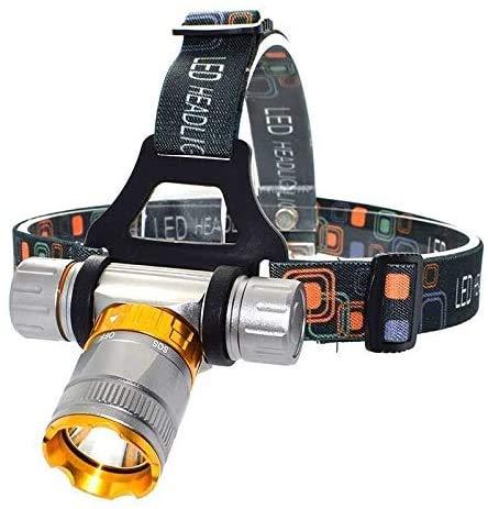KUANDARMX Torche de tête de Course Lampe de plongée à LED étanche 5 Modes Phare de plongée Lampe de Poche Frontale Lampe de Torche sous-Marine 4000 Lumen T6 (Couleur: A), A