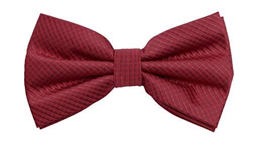 Fabio Farini - Elégant nœud papillon à carreaux pour hommes pour toutes les occasions comme le mariage, la confirmation, le bal Rouge