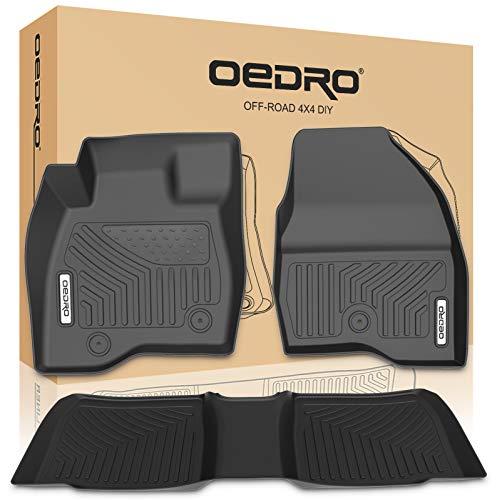OEDRO Floor Mats Compatible for 2017-2019 Ford Explorer, Unique Black TPE...