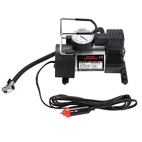 OUZHOU Inflador de neumáticos de coche, 12 V CC, 150 psi, 35 l/min, portátil, con cigarrillo, para coches, bicicletas, pelotas y otros botes inflables