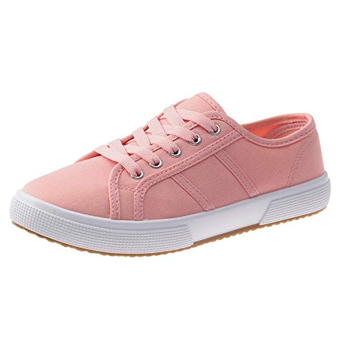 SelfieGo Canvas Shoes for Women Low Top Lace Up Lightweight Flat Breathable Casual Sneakers …