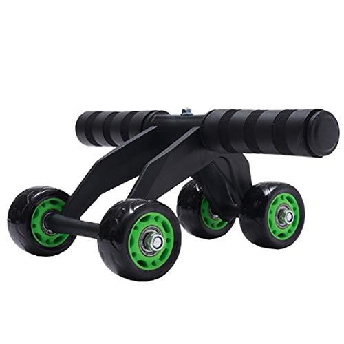 LEEJANSHAN Four Wheel Ab Bauch-Übung Roller Silent-Rad Abdominal Radkern Abs Trainer Cruncher Antiskid Bauch-Workout-Maschine Freien Knieschoner