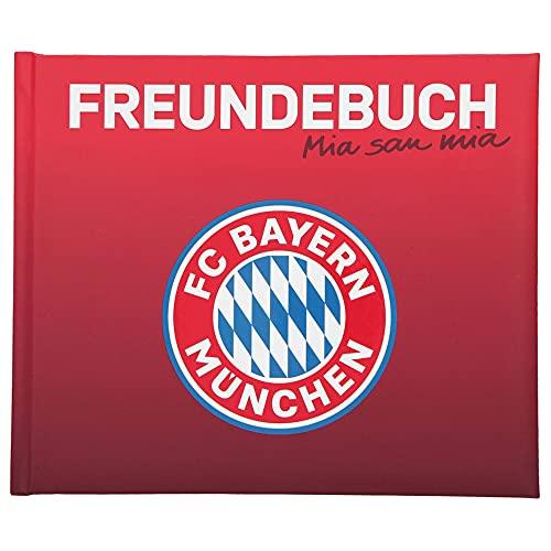 Depesche Offizielles Freundebuch vom Rekordmeister FC Bayern München, Motiv 2, ca. 21 x 17,5 x 1,5 cm groß, 108 Seiten zum Ausfüllen, Ankreuzen und Einkleben