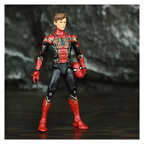 Figura de acción Hombre de araña de Hierro 6'Escala de acción Figura Cabeza Oro Espalda Garras Juguetes muñeca Figura Juguete (Color : Iron Spider B)