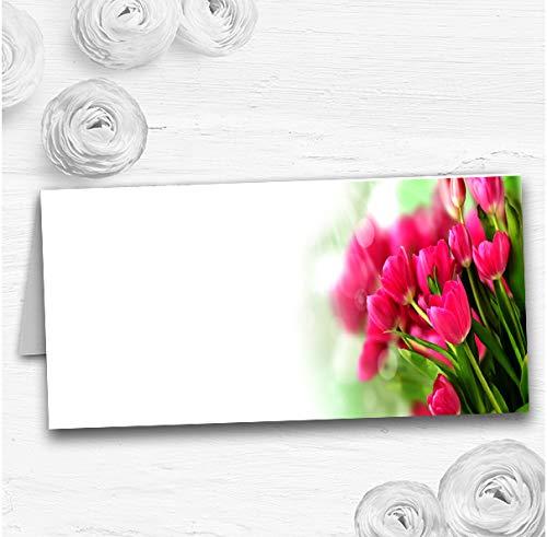 Hete roze Tulpen Bruiloft Tafel Zitplaatsen Naam Plaats Kaarten 90 Place Cards