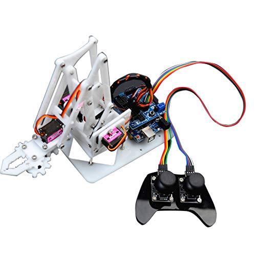 T TOOYFUL DIY Roboterarm 4-dof RC Roboter Griff Mechanischer Arm mit PS2-Fernbedienung