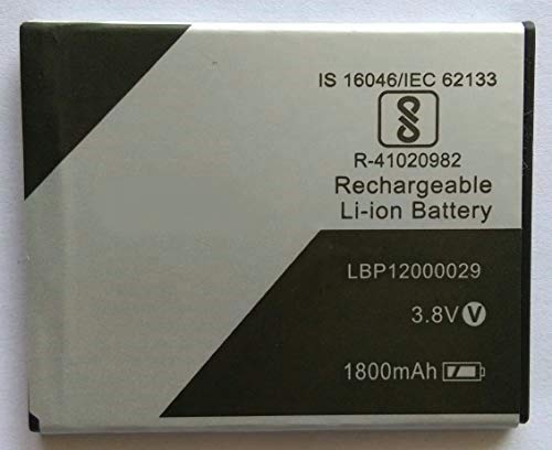 diBri Full Capacity Proper 1500 mAh Compatible Battery for Lava Z50 LBP12000029