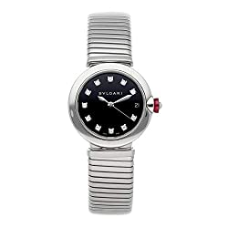 Lvcea Mechanical (Automatic) Black Dial Watch with Rhinestones