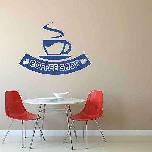 ASFGA Cafe Freizeit und Entspannung Wandaufkleber Aufkleber Café und Küche Wandkunst Tee Restaurant Dekoration Zeit Musik Bar Wohnzimmer 152x114cm