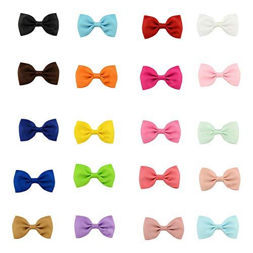 Clip Para Pelo Bebe,Mini Pinzas Para el Cabello,Pinza de Pelo con Lazo Lindo Multicolor,Accesorios para el Cabello Exquisitos,el Regalo para Los Niños (20 Colores,20 Piezas)