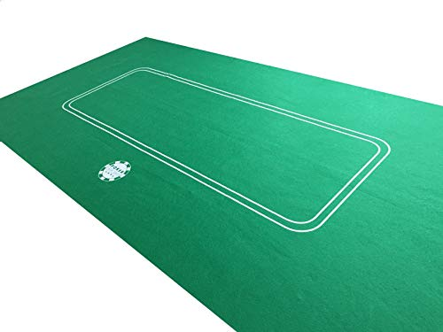 NEW 1.8m LARGE POKER CASINO FELT BAIZE LAYOUT - TEXAS HOLDEM